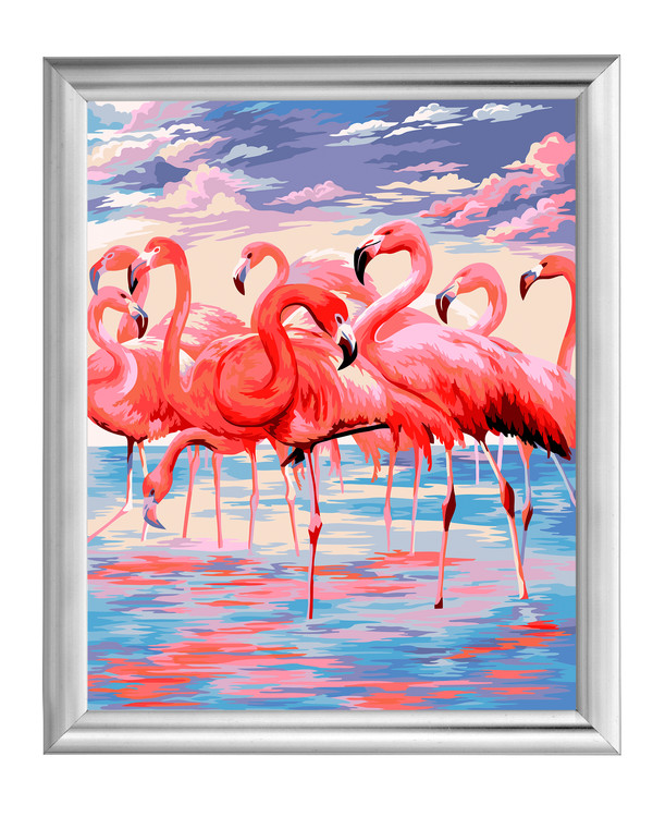 Paint by numbers Flamingoja